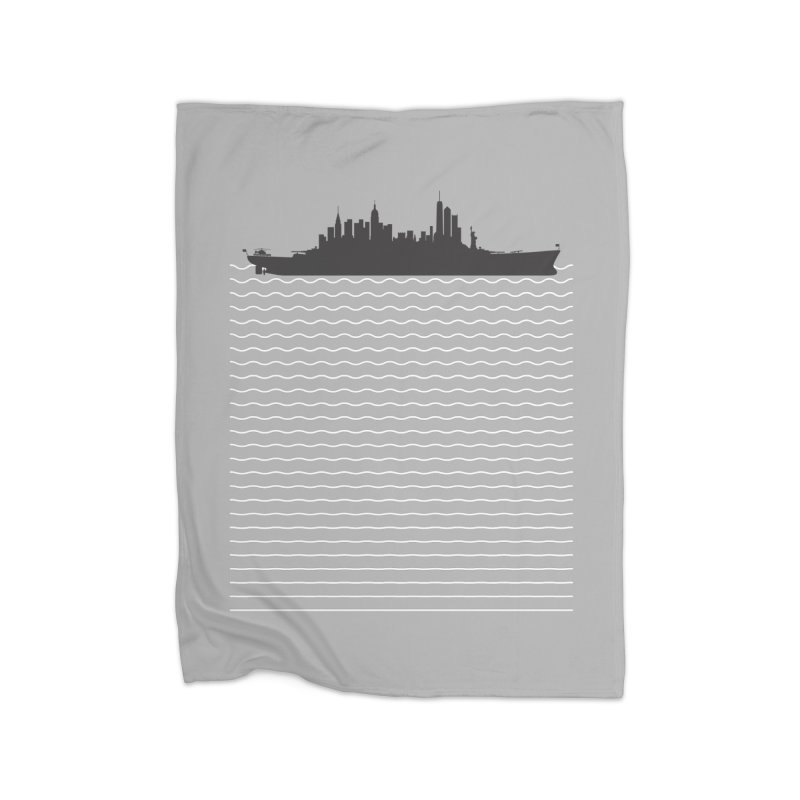 U.S.S. NYC Home Fleece Blanket Blanket by Jason McDade