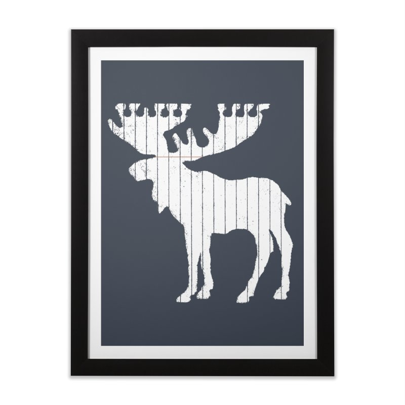 Moose Leaf Home Framed Fine Art Print by Jason McDade