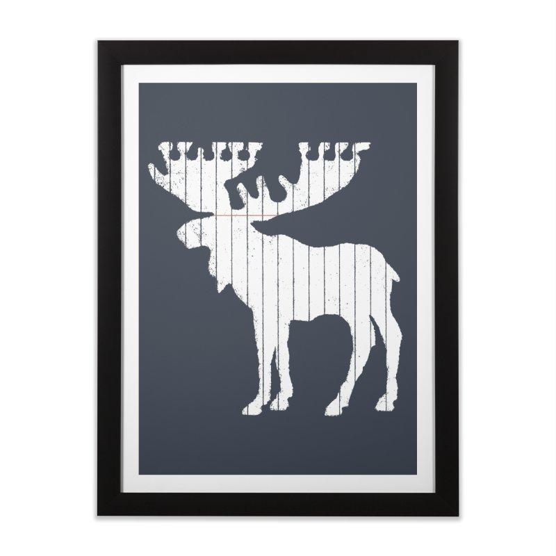 Moose Leaf Home Framed Fine Art Print by Jason McDade