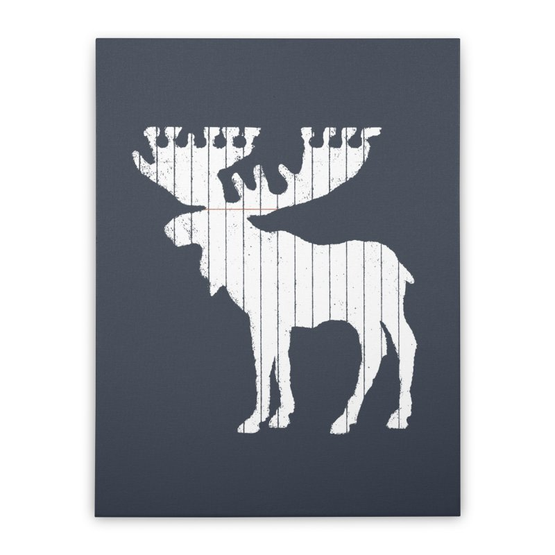 Moose Leaf Home Stretched Canvas by Jason McDade