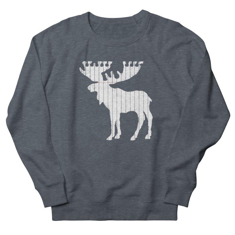 Moose Leaf Men's French Terry Sweatshirt by Jason McDade