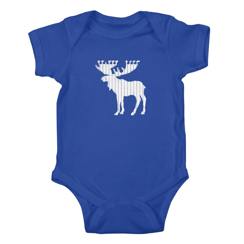 Moose Leaf Kids Baby Bodysuit by Jason McDade