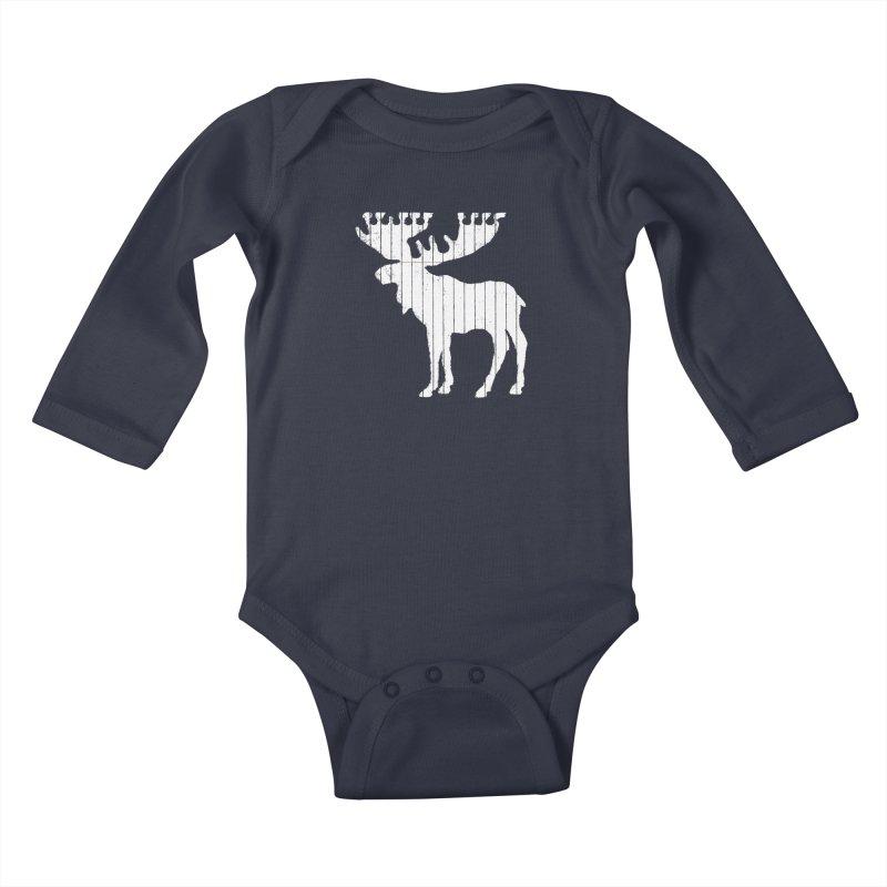 Moose Leaf Kids Baby Longsleeve Bodysuit by Jason McDade