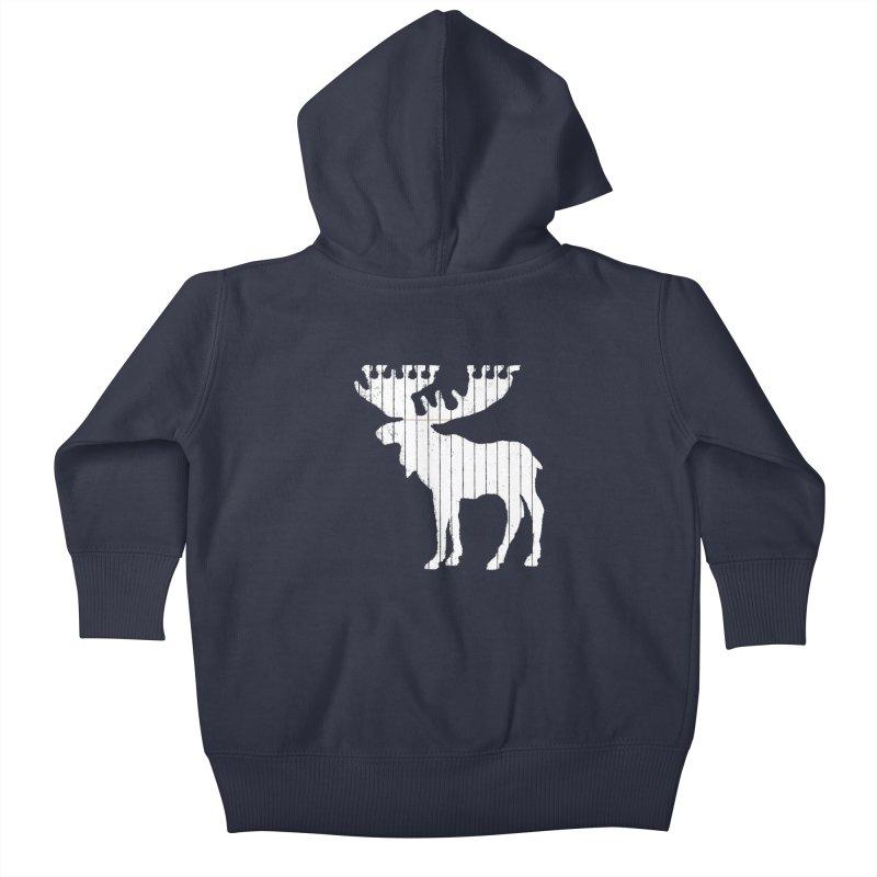 Moose Leaf Kids Baby Zip-Up Hoody by Jason McDade