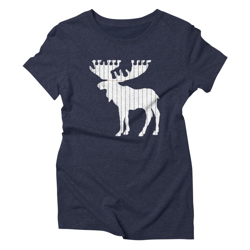 Moose Leaf Women's Triblend T-Shirt by Jason McDade