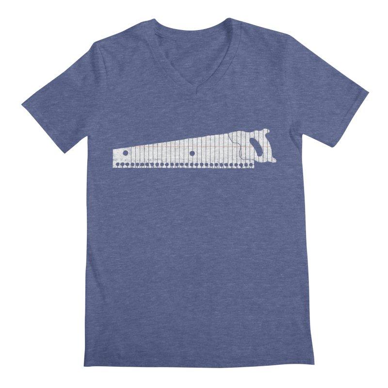 Paper Cut Men's V-Neck by Jason McDade