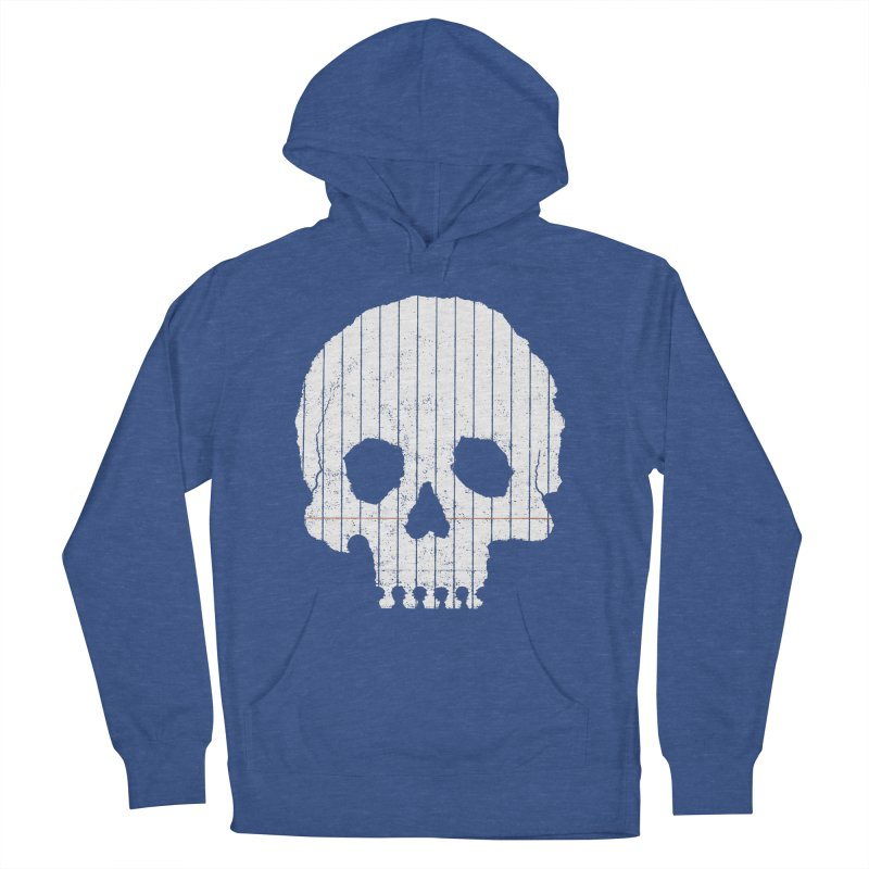 Paper Skull Women's French Terry Pullover Hoody by Jason McDade