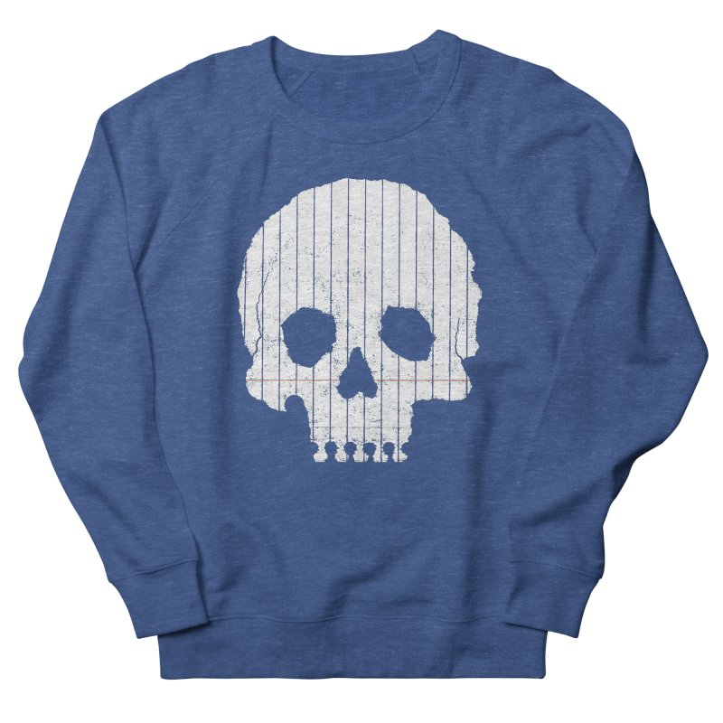 Paper Skull Women's French Terry Sweatshirt by Jason McDade