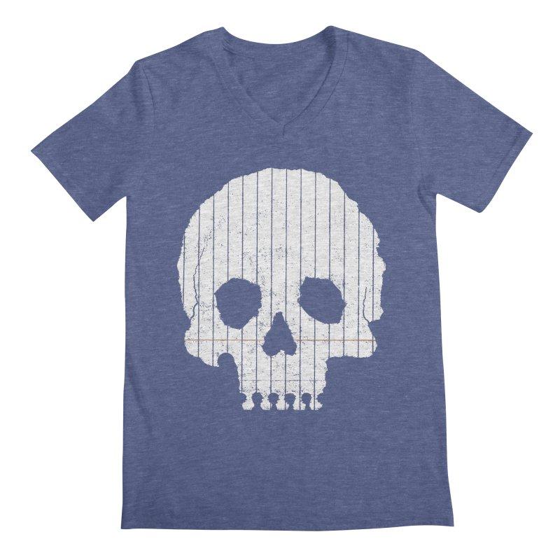 Paper Skull Men's V-Neck by Jason McDade