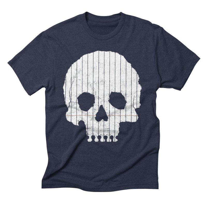 Paper Skull Men's Triblend T-shirt by Jason McDade