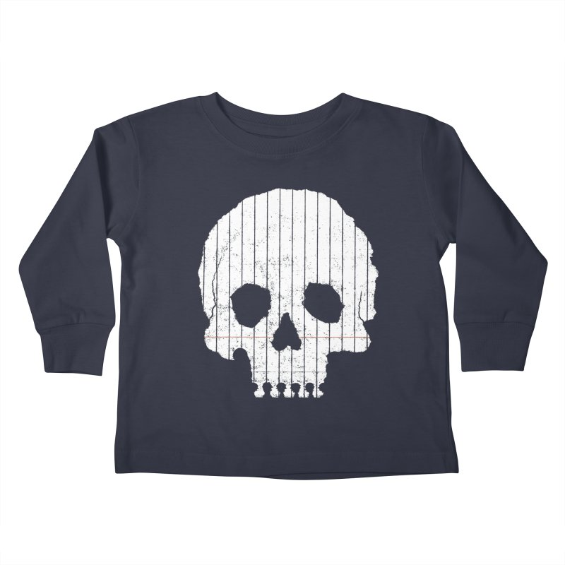 Paper Skull Kids Toddler Longsleeve T-Shirt by Jason McDade