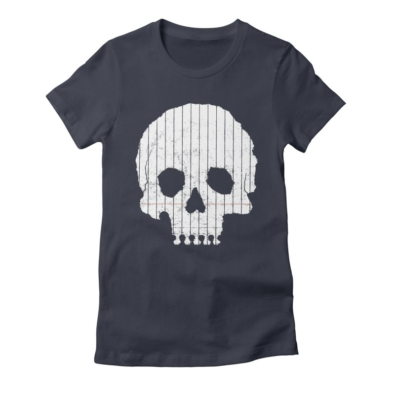 Paper Skull Women's Fitted T-Shirt by Jason McDade