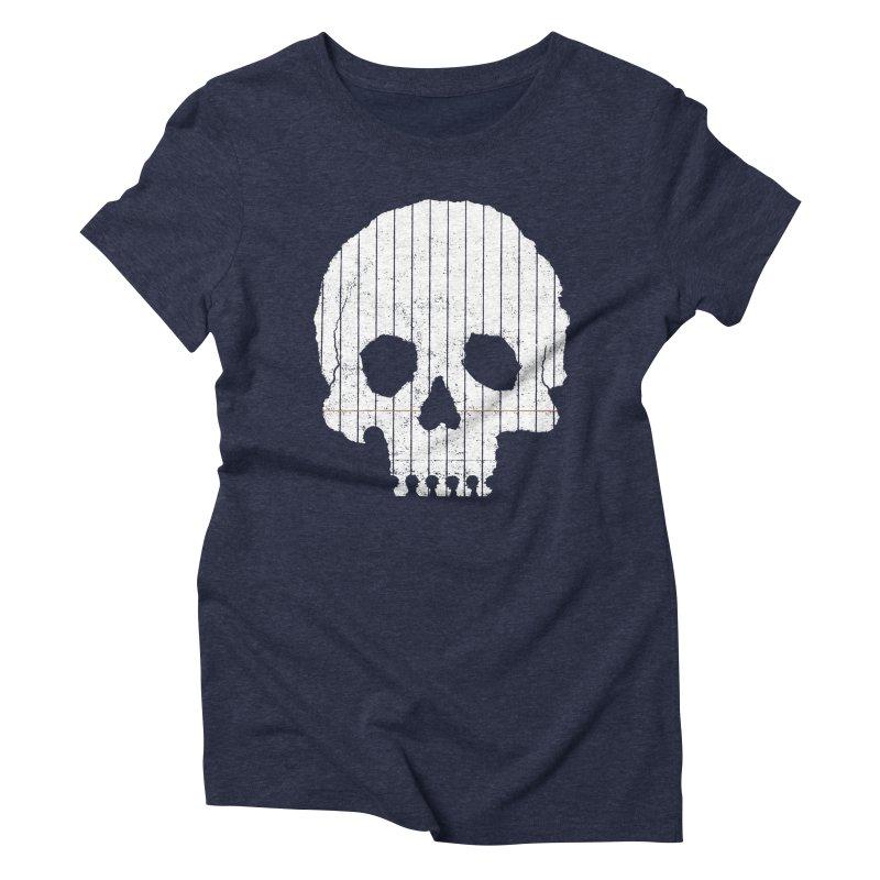 Paper Skull Women's Triblend T-shirt by Jason McDade
