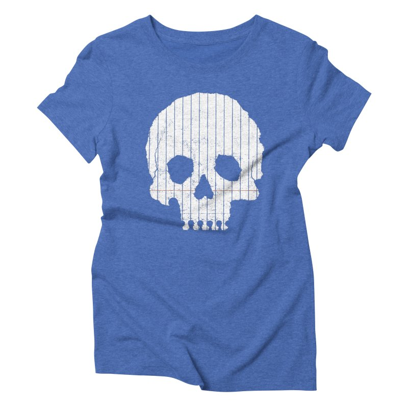 Paper Skull Women's Triblend T-Shirt by Jason McDade
