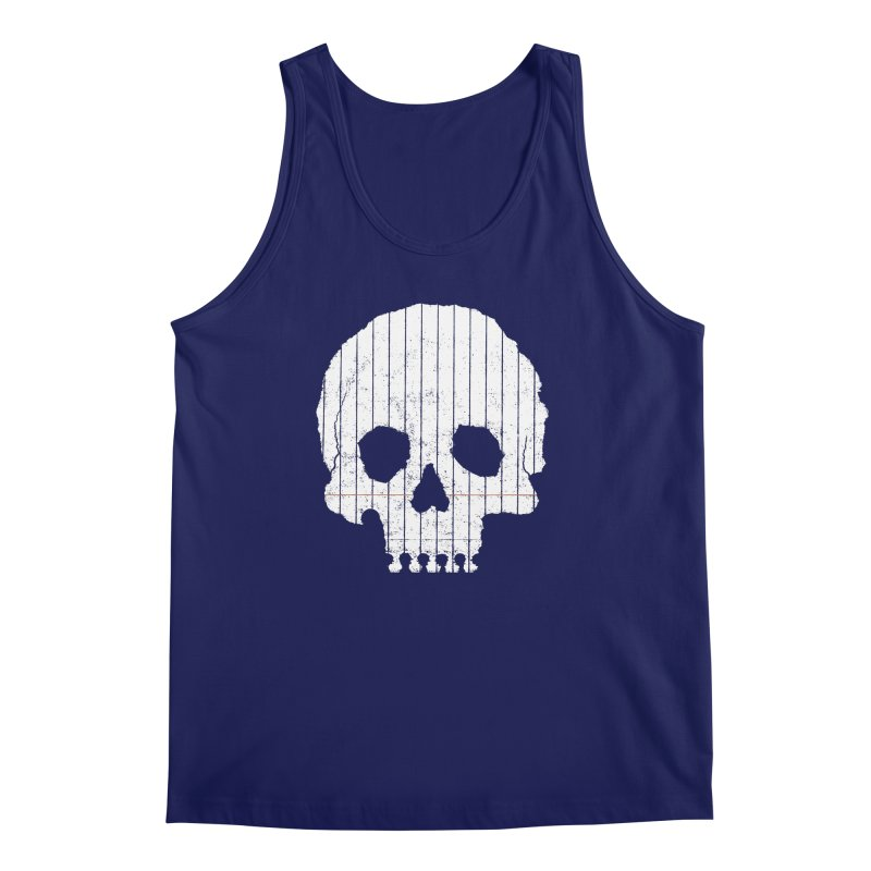 Paper Skull Men's Tank by Jason McDade