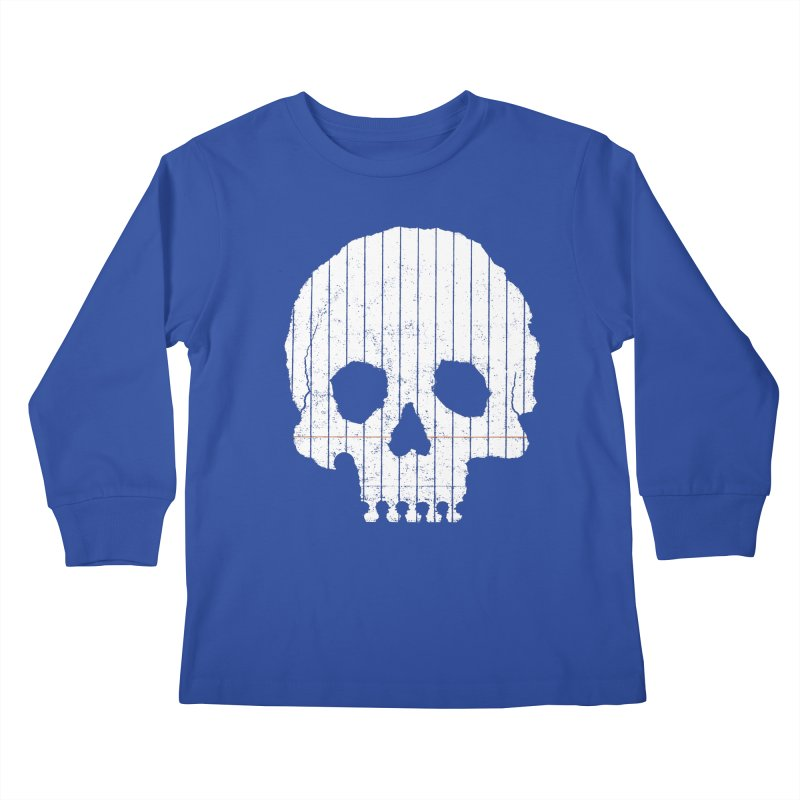 Paper Skull Kids Longsleeve T-Shirt by Jason McDade