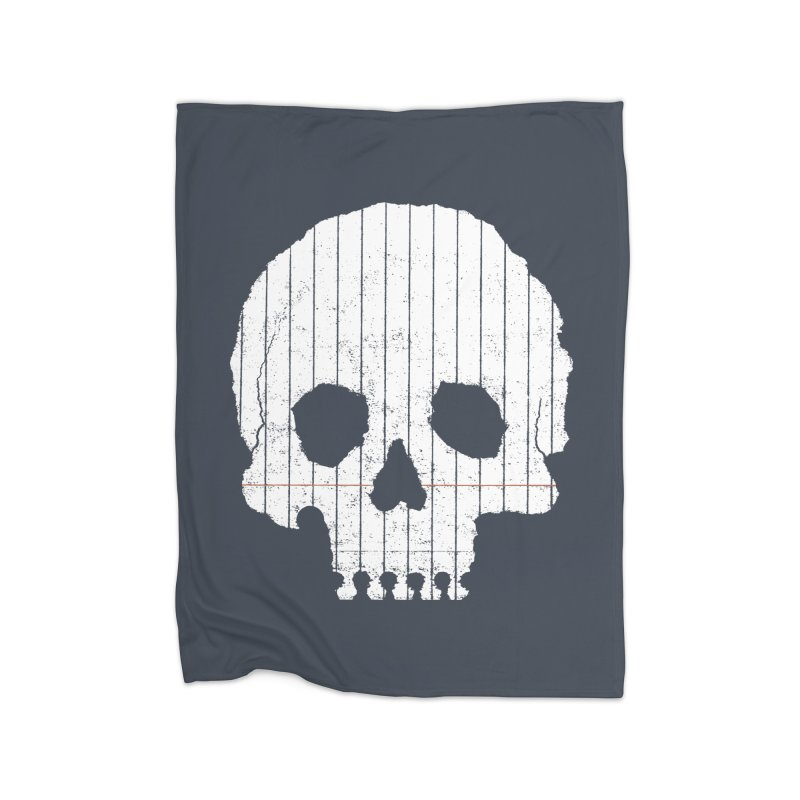 Paper Skull Home Fleece Blanket Blanket by Jason McDade