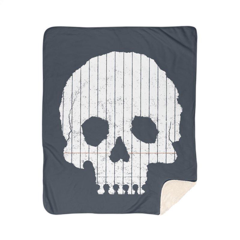 Paper Skull Home Sherpa Blanket Blanket by Jason McDade