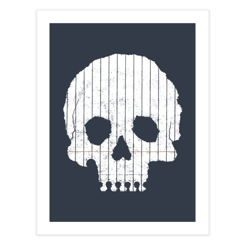 Paper Skull Home Fine Art Print by Jason McDade