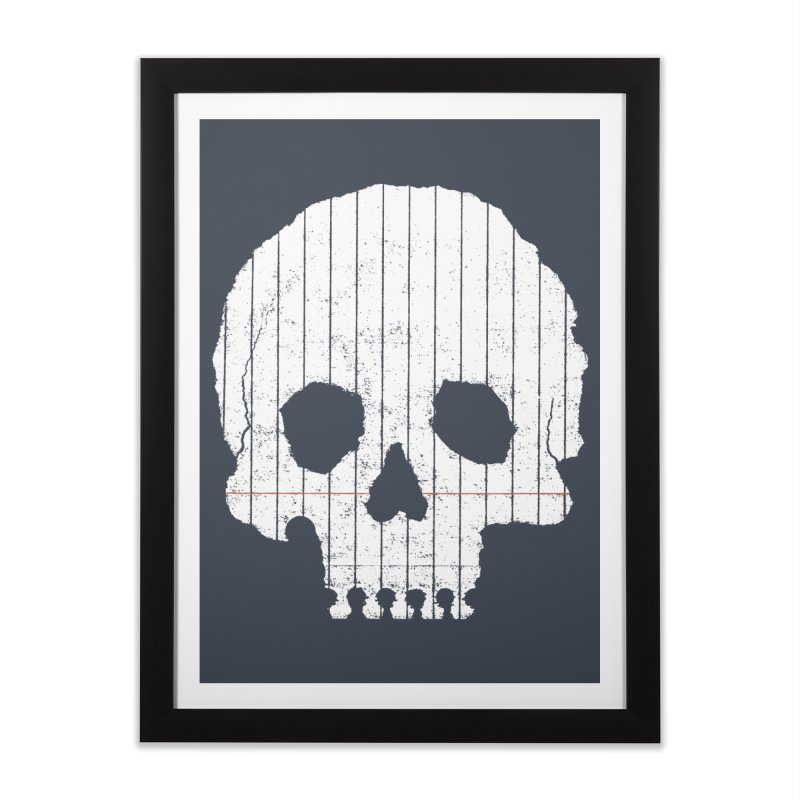 Paper Skull Home Framed Fine Art Print by Jason McDade