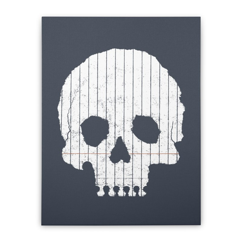 Paper Skull Home Stretched Canvas by Jason McDade