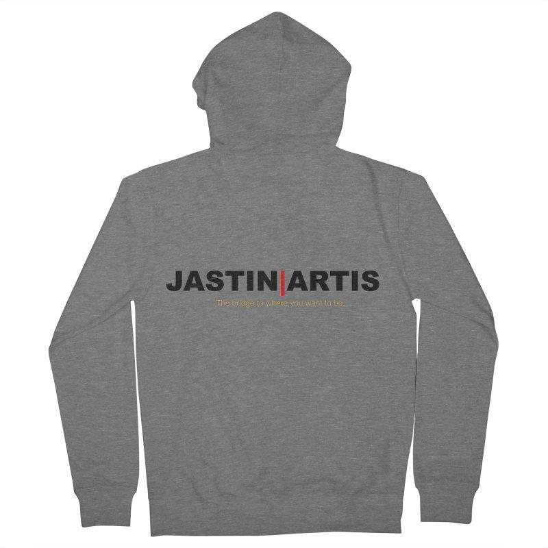 Jastin Artis Apparel (Black) Men's Zip-Up Hoody by Artis Shop