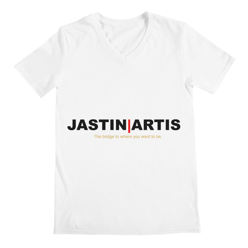 Jastin Artis Apparel (Black) Men's V-Neck by Artis Shop