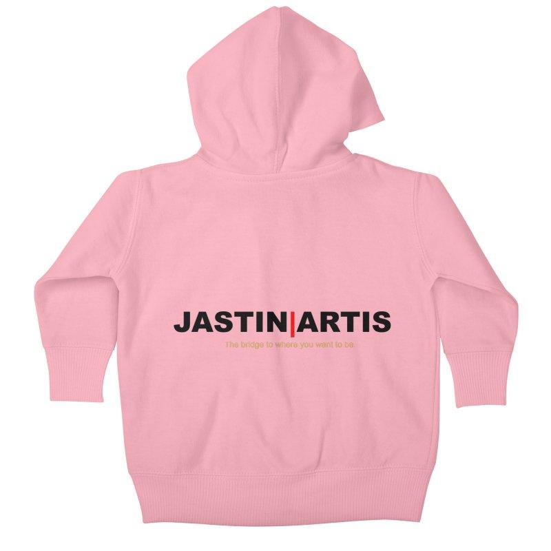 Jastin Artis Apparel (Black) Kids Baby Zip-Up Hoody by Artis Shop