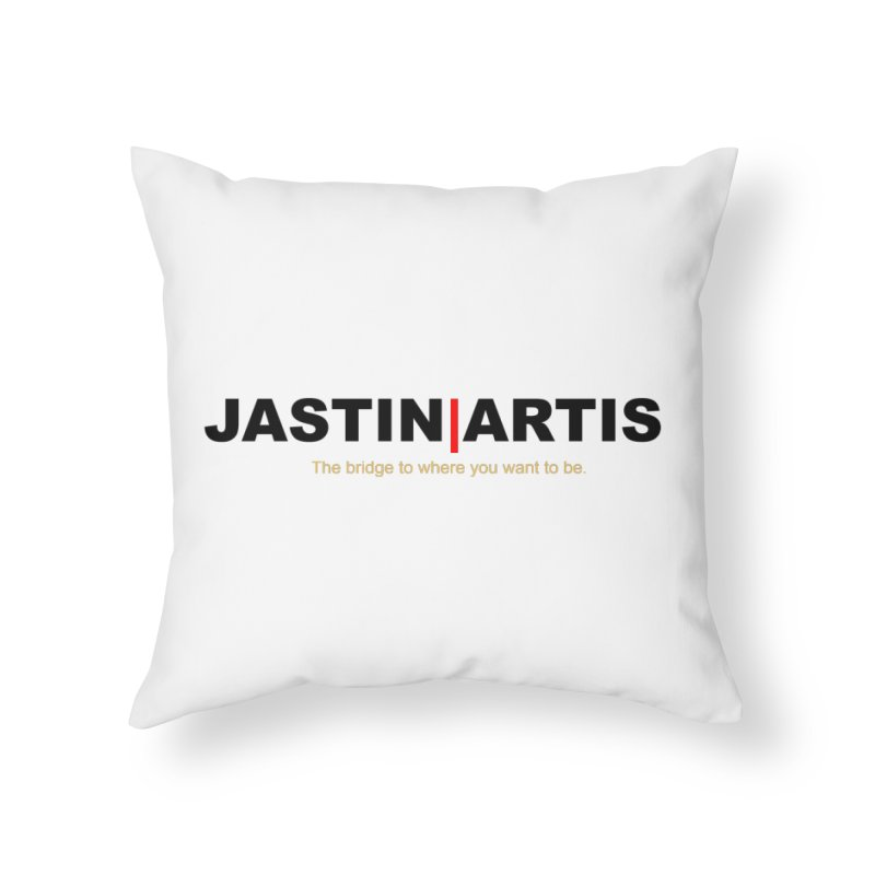 Jastin Artis Apparel (Black) Home Throw Pillow by Artis Shop