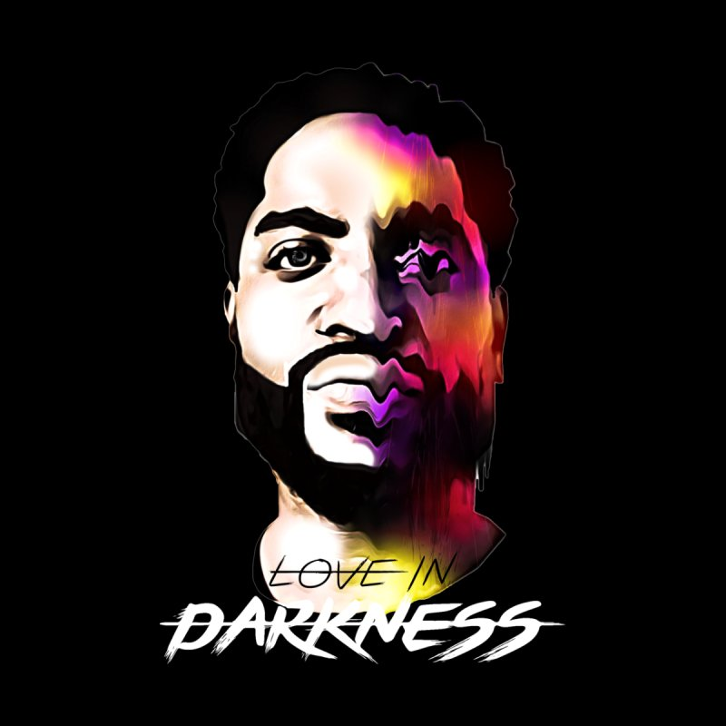 Love in Darkness Merch (white text) Accessories Face Mask by Artis Shop