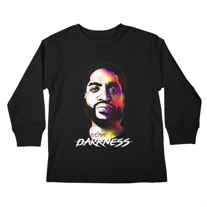 Love in Darkness Merch (white text) Kids Longsleeve T-Shirt by Artis Shop