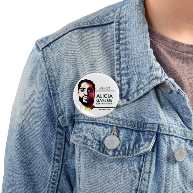 LYRICS ON MERCH - Can't Do Without Love (CDWL) Accessories Button by Artis Shop