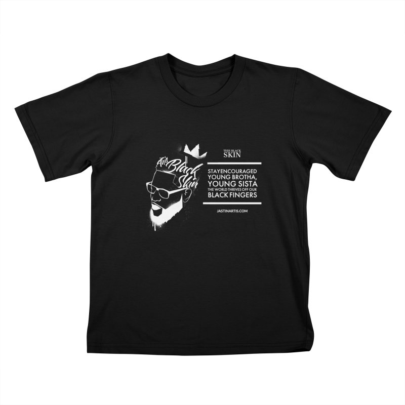 LYRICS ON MERCH - This Black Skin Kids T-Shirt by Artis Shop