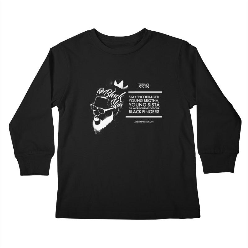 LYRICS ON MERCH - This Black Skin Kids Longsleeve T-Shirt by Artis Shop
