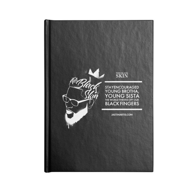 LYRICS ON MERCH - This Black Skin Accessories Notebook by Artis Shop