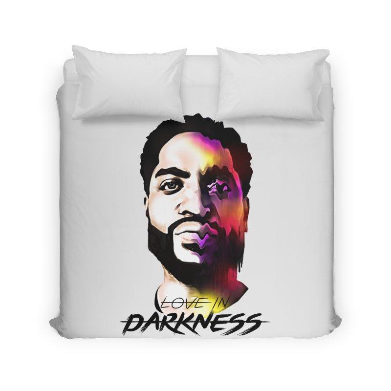 Love in Darkness Merch (black text) Home Duvet by Artis Shop