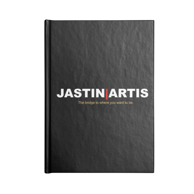 Jastin Artis Apparel (White) Accessories Notebook by Artis Shop