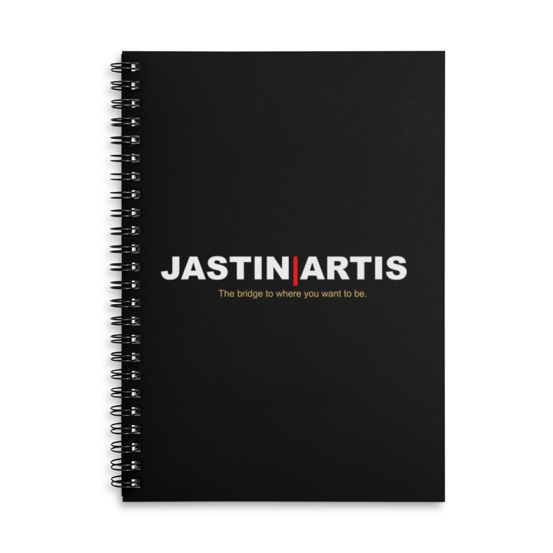 Jastin Artis Apparel Accessories Lined Spiral Notebook by Artis Shop