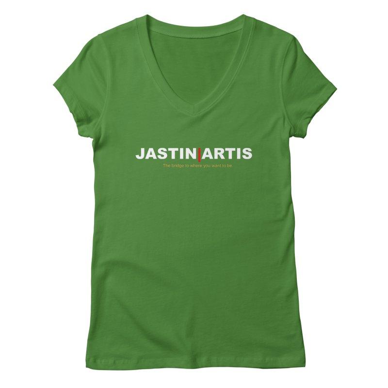 Jastin Artis Apparel (White) Women's V-Neck by Artis Shop