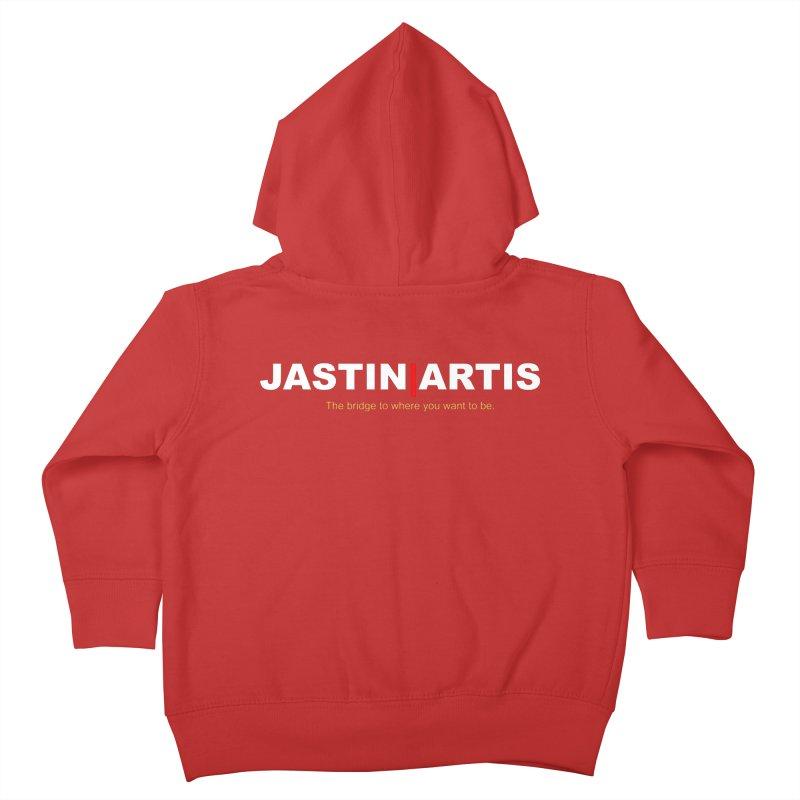 Jastin Artis Apparel (White) Kids Toddler Zip-Up Hoody by Artis Shop