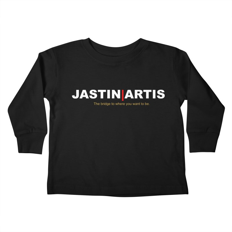 Jastin Artis Apparel (White) Kids Toddler Longsleeve T-Shirt by Artis Shop