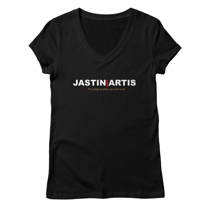 Jastin Artis Apparel (White) Women's V-Neck by Artis Shop