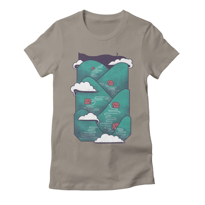 Valley Women's Fitted T-Shirt by Jaxxer Apparel