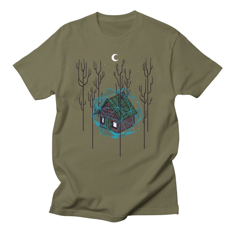 Cabin In The Woods Men's T-Shirt by Jaxxer Apparel