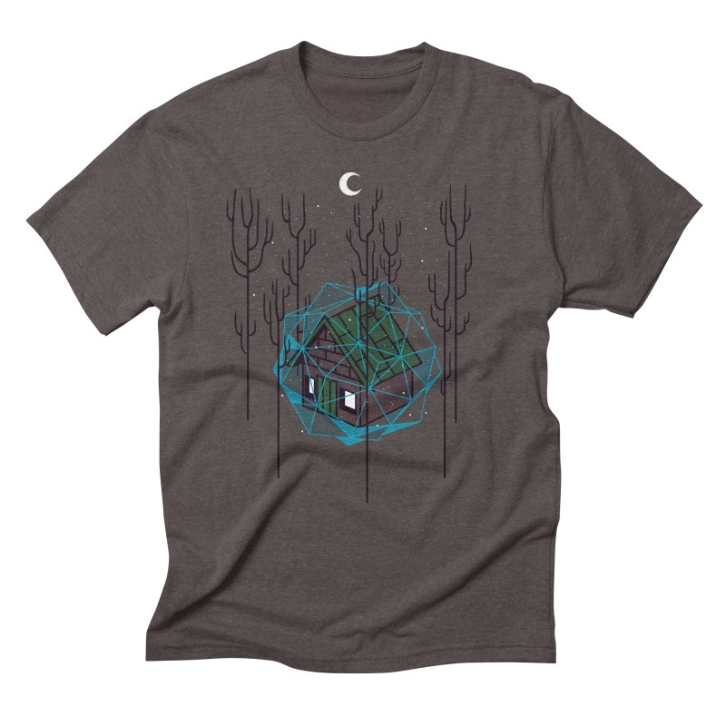Cabin In The Woods Men's Triblend T-Shirt by Jaxxer Apparel