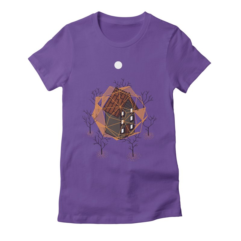 Cabin In The Woods 2 Women's Fitted T-Shirt by Jaxxer Apparel