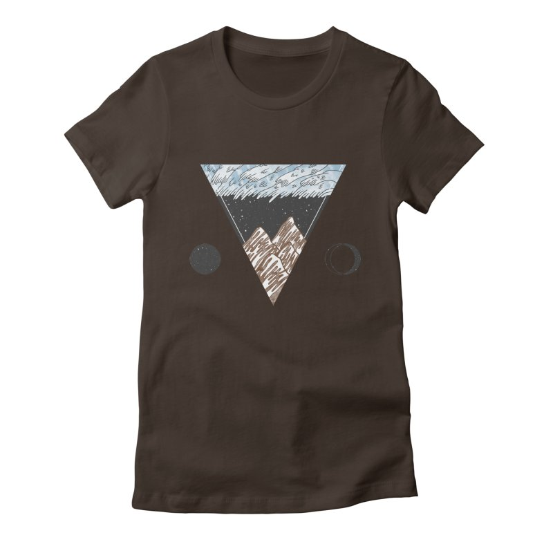 Cold Mountains Women's Fitted T-Shirt by Jaxxer Apparel