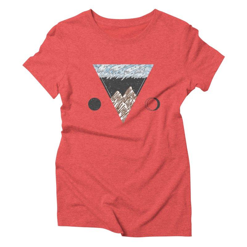 Cold Mountains Women's Triblend T-Shirt by Jaxxer Apparel