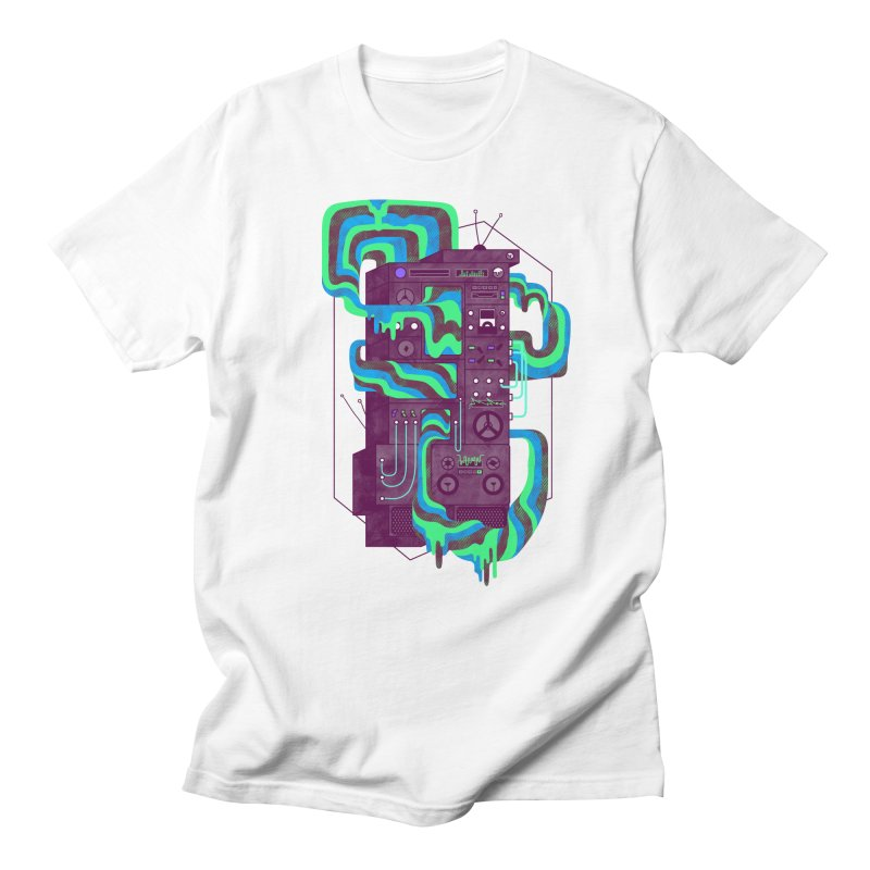 Magic Stereo Men's T-Shirt by Jaxxer Apparel
