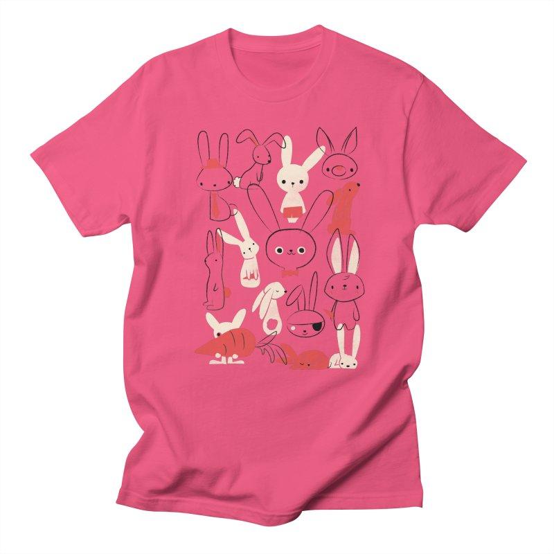Bunnies Men's T-shirt by jayfleck's Artist Shop